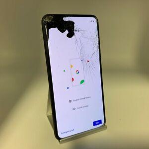 Google Pixel 5 128GB Black Verizon Unlocked Cracked Screen/LCD Bleed/Cam Focus