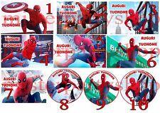Cialda - Ostia per torte Spiderman Homecoming Uomo Ragno A4 o tonda 20 cm