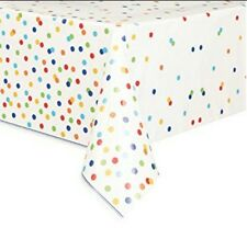 Plastic Confetti Cake Birthday Tablecloth 7ft X 4.5ft