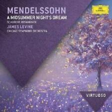 JAMES LEVINE - A MIDSUMMER NIGHT'S DREAM,ROSAMUNDE; CD MENDELSSOHN/SCHUBERT NEW!