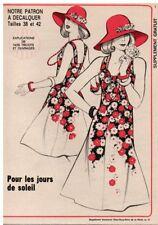 ▬► PATRON Écho de la Mode - Robe T38 à 42 - N°21 de 1974