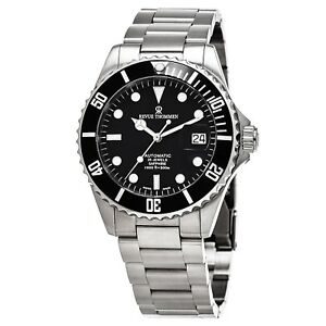 Revue Thommen Men's Divers Black Dial Stainless Steel Automatic Watch 17571.2137