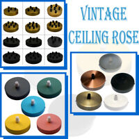 Vintage Ceiling Rose Pendant Cable Grip Flex Clamp Plate Light Fitting Outlet