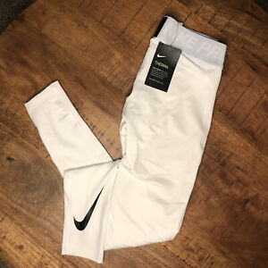 Nike Therma Tights Base Layer Pro Dri Fit White 929711-100 Mens Size Large