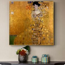 The Lady in Gold by Gustav Klimt Painting - Canvas Wall Art Paintings Decoration