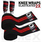 Weight Lifting Knee Wraps Elasticated Gym Workout Straps Cotton Bandage 2X