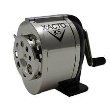 X-ACTO Ranger 1031 Wall Mount Manual Pencil Sharpener,Silver/Black Silver/Black
