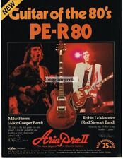 1982 ARIA PRO II PE-R80 Electric Guitar MIKE PINERA Vtg Print Ad