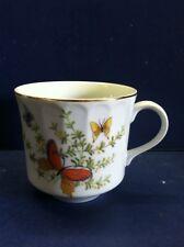 Shafford Ecstasy Coffee Mugs Butterfly Garden Tea Cups