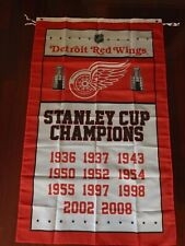 Detroit Red Wings Stanley Cup Champions Flag 3ft x 5ft Polyester NHL Banner