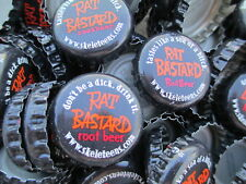 100 Rat Root Beer Soda - Regular bottle Caps (No Dents). Free S&H