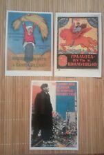 3 carte postale Vladimir Lenine Russie  révolution russe 1917 Literacy communism