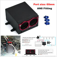 60mm 2 Port External Fuel Pump & Tank Billet Aluminium AN8 Fitting for Bosch 044