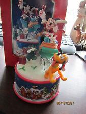 Santa'S Secret Helpers Mini Acton Musical Music Box Disney Mickey Pluto Enesco