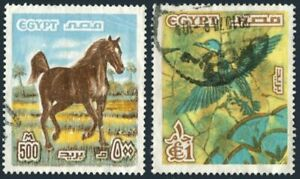 Egypt 1066-1067,used.Mi 751-752. Arabian stallion,Flying Duck,1978.