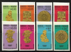 STAMPS-PARAGUAY. 1966. Olympics Olympics-Mexico Imperf Set. Mi: 1543/50. MNH.