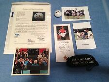 Autographed Golf Ball by 41st US President George H W Bush and Provenance JSA