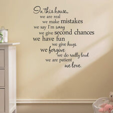 IN THIS HOUSE RULES BLACK MURAL DECAL DECOR WALL ART QUOTE REMOVABLE STICKER UK