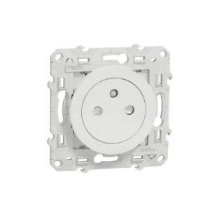 Odace - prise de courant 2P+T affleurante - blanc - connexion rapide.S520052