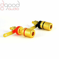 2x Gold Speaker Binding Posts Terminals 4mm Connectors Gold Plated banana socket