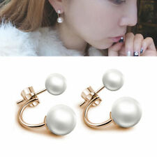 EPIC VAULT- Freshwater Pearl Stud Dangle Earrings- 925 Silver Plated
