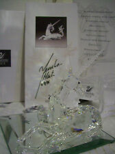 "1996 Swarovski Crystal ""COA is HAND SIGNED by ARTIST - UNICORN"" w/Boxes MINT"