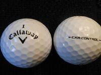 """20 CALLAWAY """"CXR CONTROL"""" - BLACK TICK - Golf Balls - """"PEARL/A"""" Grades."""