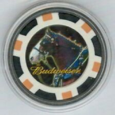 BUDWEISER CLYDESDALE HORSE Poker Card Guard Protector - Black