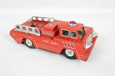 Vintage Friction F.D Fire Dept K Trademark F-L106 Litho Tin Truck Toy Japan Toy