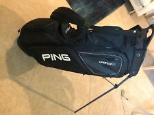 ping hoofer 14 golf bag black with white lettering excellent condition