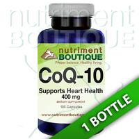 Coenzyme Q-10 400 mg CoQ10 CO Q-10, CoQ-10 100 Caps by Nutriment Boutique