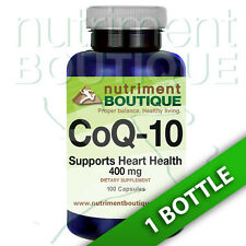 Coenzyme Q-10 400 mg CoQ10 CO Q-10, CoQ-10 100 Caps by Nutriment Boutique