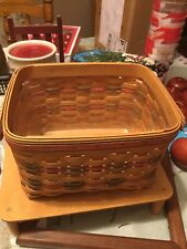 Longaberger 2002 Mothers Day Basket Moms Memories w Lid And Pro Excellent Cond