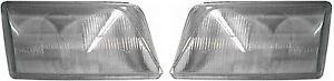 AUDI A6 (C4) Headlight Glass Lens PAIR ( Left + Right ) 1995 - 1997