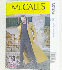 McCall's M7374 7374 Steampunk Men Long Coat Costume Sewing Pattern Sz 46-52