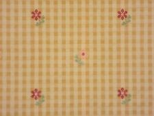 Gold Check PINK RED Floral Drapery Upholstery Home Decor Sewing Fabric BTY