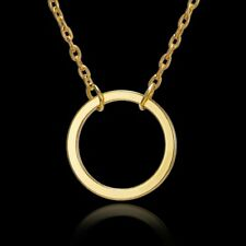 Necklace Womens Jewellery Party Gifts New Simple Gold Circle Charm Pendant Chain