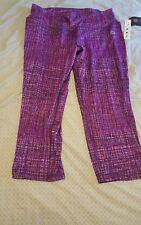 RBX Purple Cross hatch Leggings Capris Size 1x NWT