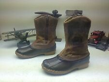 LA CROSSE MESQUITE BROWN DISTRESSED WORK CHORE LEATHER ENGINEER DUCK BOOTS 8M
