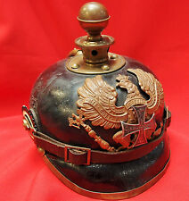 RARE WW1 GERMANY PRUSSIAN RESERVISTS SPIKED HELMET PICKELHAUBE (KUGELHELM)
