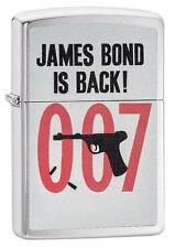 Zippo Windproof James Bond 007 Lighter, Bond Is Back, 29563, New In Box