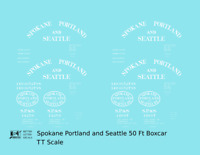 K4 TT Decals Spokane Portland and Seattle 50 Ft Boxcar White Arched Lettering