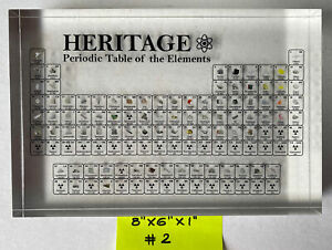 Heritage Periodic Table Display of Elements | Acrylic Element Collection display