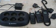 lot of 3 Motorola XU2600 Radios w/ XTN CPD-6 Charger + Mics / Belt Clips