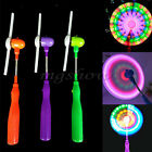 Flashing Light Up LED Spinning Windmill Glows Child Toy Music Present Gift Party