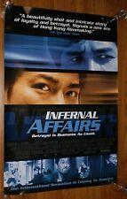 INFERNAL AFFAIRS One Sheet Poster U.S. Original TONY LEUNG ANDREW LAU 2002 RARE