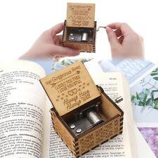 Holz Musikkästchen mit Gravur Spieluhr Spieluhren Dekorative Box Holz Handwerk