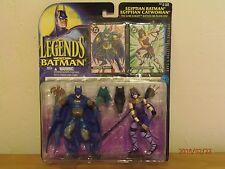 Legendes of BatMan Egyptian Batman & Egyptian Catwoman 1995  Very Rare!!!!