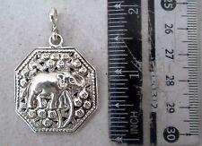NiCe! Karen Hill Tribe 925 Silver Elephant Pendant