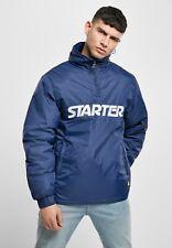 Starter Jacke Herren Halbe Zip mit Logo Starter Dunkelblau